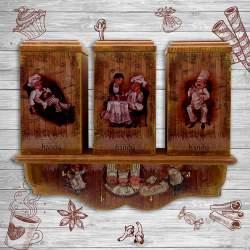 Комплект шкатулок с полкой «Веселые поварята»