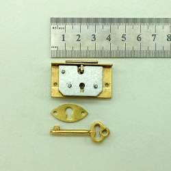 Замок латунный кассетный под ключ