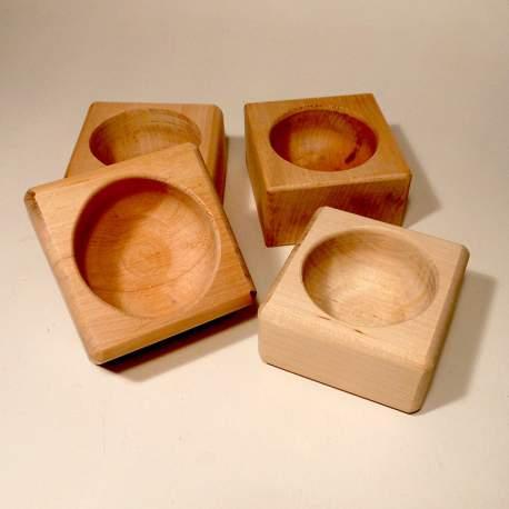 Чаша для бритья деревянная объем 80мл упаковка 10шт