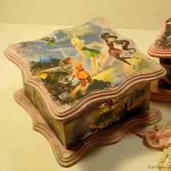 Шкатулка «Маленькая фея» лавандовая