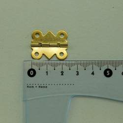 Петля фигурная, полуоборотная 25*20 мм золото