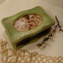 Шкатулка «Зеленый бархат»