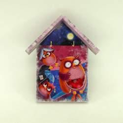 Ключница домик «Семья сов»