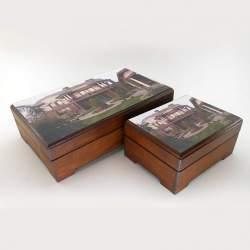 Подарочный набор шкатулки для чая и аромамасел