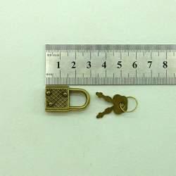 Замок с ключами 18*33, старая латунь
