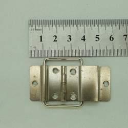 Петля серебро с ограничителем 24*55мм