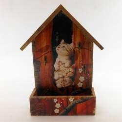 Ключница домик с ящиком «Котята2»