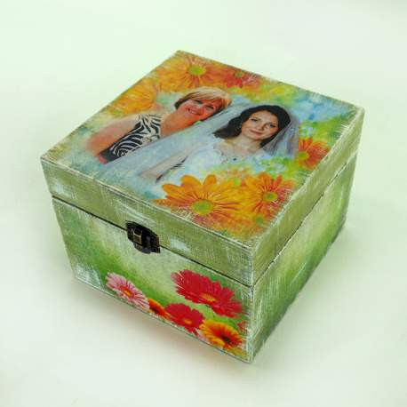 Шкатулка подарочная с фото под заказ