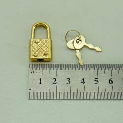 Замок с ключами 18*33, золото