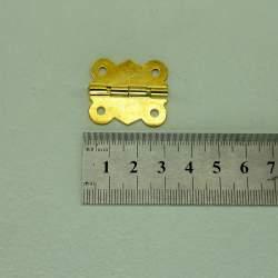 Петля фигурная 31*25 мм золото