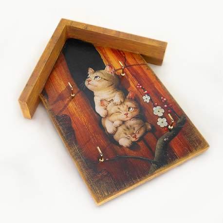 Ключница домик «Котята»