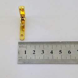 Петля врезная с ограничителем 6*30 мм, золото