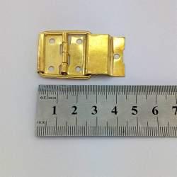 Петля с ограничителем 24*46 мм, золото