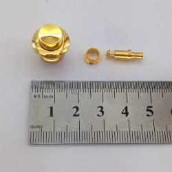 Замок кнопка, 15*18мм врезной, золото