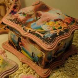 Шкатулка «Маленькая фея» розовая
