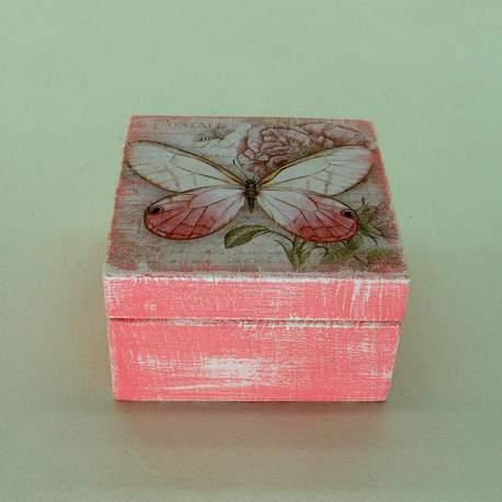 Шкатулка мини «Розовая бабочка»