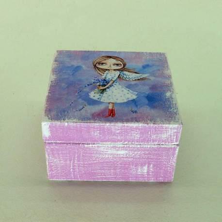 Шкатулка мини «Лавандовый ангел»