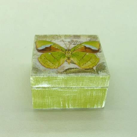 Шкатулка мини «Оливковая бабочка»