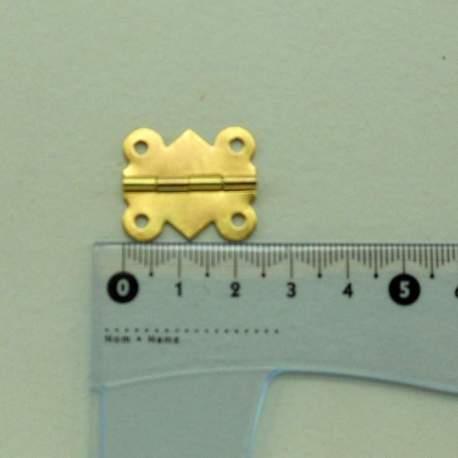 Петля фигурная 25*20 мм золото