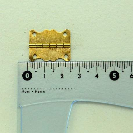 Петля фигурная 25*19 мм золото