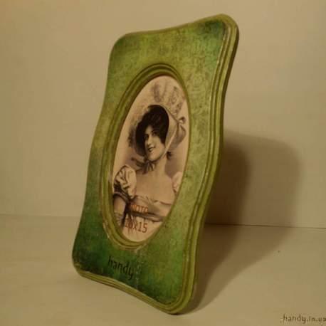 Фоторамка «Зеленый бархат» - овал