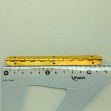 Петля рояльная 115*15 мм полуоборотная золото