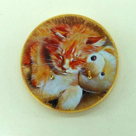 Ключница мини «Рыженький котенок»