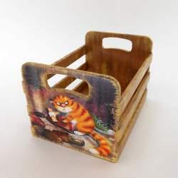 Ящик в прихожую «Серьезный кот»